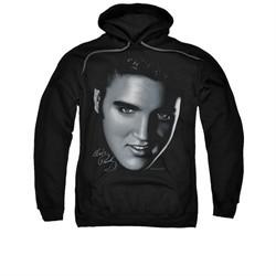 Elvis Presley Hoodie Big Face Black Sweatshirt Hoody