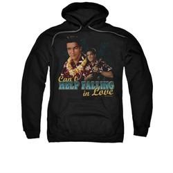 Elvis Presley Hoodie Can't Help Falling Black Sweatshirt Hoody