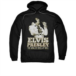 Elvis Presley Hoodie Golden Glow Black Sweatshirt Hoody