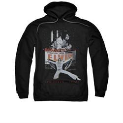 Elvis Presley Hoodie Las Vegas 1970 Black Sweatshirt Hoody