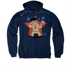 Elvis Presley Hoodie Lil GI Navy Sweatshirt Hoody