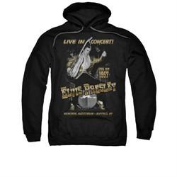 Elvis Presley Hoodie Live In Buffalo Black Sweatshirt Hoody