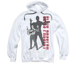 Elvis Presley Hoodie Look No Hands White Sweatshirt Hoody