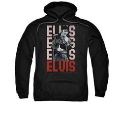 Elvis Presley Hoodie Name In Lights Black Sweatshirt Hoody