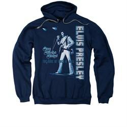 Elvis Presley Hoodie One Night Only Navy Sweatshirt Hoody