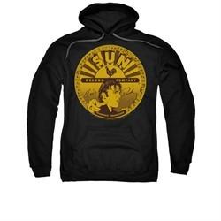 Elvis Presley Hoodie Sun Records Full Logo Black Sweatshirt Hoody