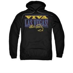Elvis Presley Hoodie Viva Las Vegas Black Sweatshirt Hoody