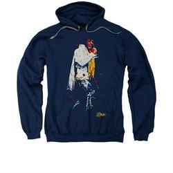 Elvis Presley Hoodie Yellow Scarf Navy Sweatshirt Hoody