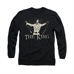 Elvis Presley Shirt Cape Long Sleeve Black Tee T-Shirt