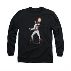Elvis Presley Shirt Glorious Long Sleeve Black Tee T-Shirt