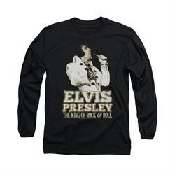 Elvis Presley Shirt Golden Glow Long Sleeve Black Tee T-Shirt