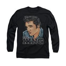 Elvis Presley Shirt Graphic Long Sleeve Black Tee T-Shirt