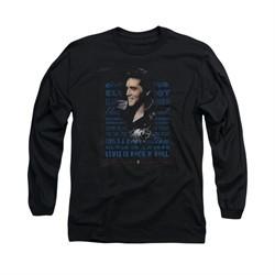 Elvis Presley Shirt Icon Long Sleeve Black Tee T-Shirt
