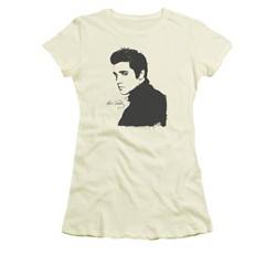 Elvis Presley Shirt Juniors Black Paint Cream T-Shirt