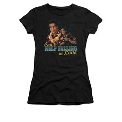 Elvis Presley Shirt Juniors Can't Help Falling Black T-Shirt