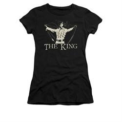 Elvis Presley Shirt Juniors Cape Black T-Shirt