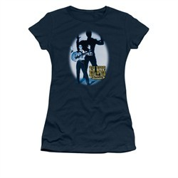 Elvis Presley Shirt Juniors Hands Up Navy T-Shirt