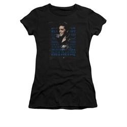 Elvis Presley Shirt Juniors Icon Black T-Shirt