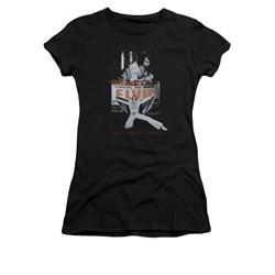 Elvis Presley Shirt Juniors Las Vegas 1970 Black T-Shirt
