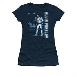 Elvis Presley Shirt Juniors One Night Only Navy T-Shirt