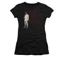 Elvis Presley Shirt Juniors White Suit Black T-Shirt