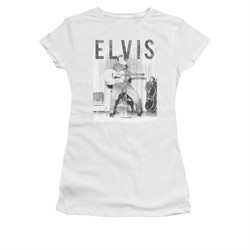 Elvis Presley Shirt Juniors With The Band White T-Shirt