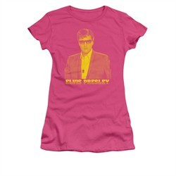 Elvis Presley Shirt Juniors Yellow Hot Pink T-Shirt