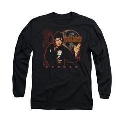 Elvis Presley Shirt Karate Long Sleeve Black Tee T-Shirt