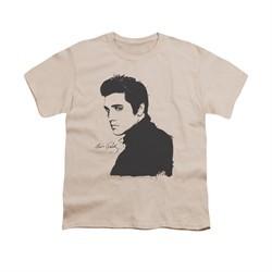 Elvis Presley Shirt Kids Black Paint Cream T-Shirt