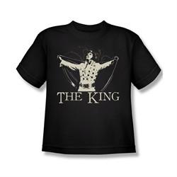 Elvis Presley Shirt Kids Cape Black T-Shirt