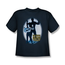 Elvis Presley Shirt Kids Hands Up Navy T-Shirt