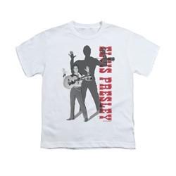 Elvis Presley Shirt Kids Look No Hands White T-Shirt