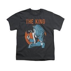 Elvis Presley Shirt Kids Mic In hand Charcoal T-Shirt