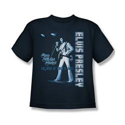 Elvis Presley Shirt Kids One Night Only Navy T-Shirt