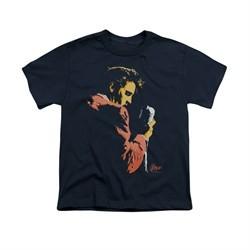 Elvis Presley Shirt Kids Quick Paint Navy T-Shirt