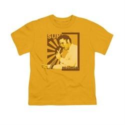 Elvis Presley Shirt Kids Sun Records On The Mic Gold T-Shirt
