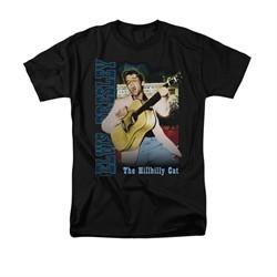 Elvis Presley Shirt Kids The Hillbilly Cat Black T-Shirt