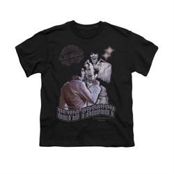 Elvis Presley Shirt Kids Violet Vegas Black T-Shirt