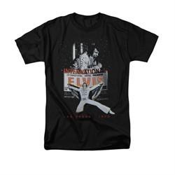 Elvis Presley Shirt Las Vegas 1970 Black T-Shirt