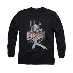 Elvis Presley Shirt Las Vegas 1970 Long Sleeve Black Tee T-Shirt