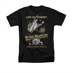 Elvis Presley Shirt Live In Buffalo Black T-Shirt