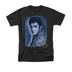 Elvis Presley Shirt Overlay Black T-Shirt
