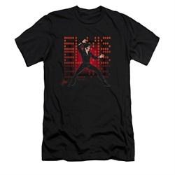 Elvis Presley Shirt Slim Fit 69 Anime Black T-Shirt