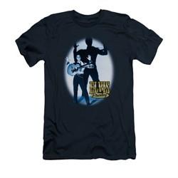 Elvis Presley Shirt Slim Fit Hands Up Navy T-Shirt