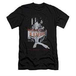 Elvis Presley Shirt Slim Fit Las Vegas 1970 Black T-Shirt
