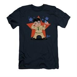 Elvis Presley Shirt Slim Fit Lil GI Navy T-Shirt