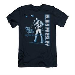 Elvis Presley Shirt Slim Fit One Night Only Navy T-Shirt