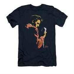 Elvis Presley Shirt Slim Fit Quick Paint Navy T-Shirt