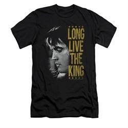 Elvis Presley Shirt Slim Fit V-Neck Long Live Black T-Shirt