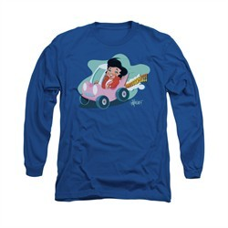 Elvis Presley Shirt Speedway Long Sleeve Royal Blue Tee T-Shirt